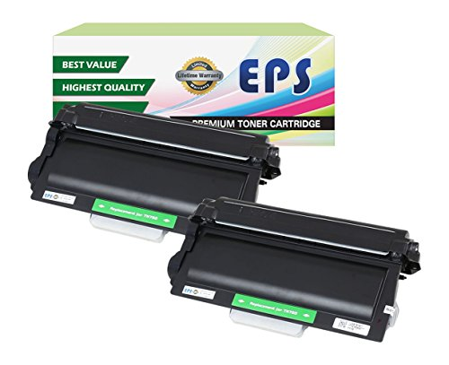 EPS Replacement for  Brother TN750 Black Toner Cartridges (2 -
