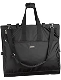 WallyBags 66-inch Gown Length, Tri-Fold Destination Wedding Garment Bag with Shoulder Strap and Multiple Pockets