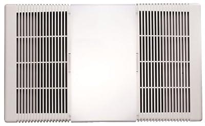 NuTone 665RP Heat-A-Ventlite Exhaust Fan with 1300-Watt Heater and 100-Watt Incandescent Light, 70 CFM