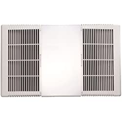 NuTone 665RP Heat-A-Ventlite Exhaust Fan with 1300-Watt Heater and 100-Watt Incandescent Light, 70 CFM