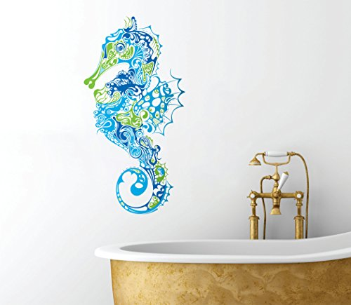 Seahorse Design - Peel and Stick - Removable Bathroom Any Room Wall Decal - 18