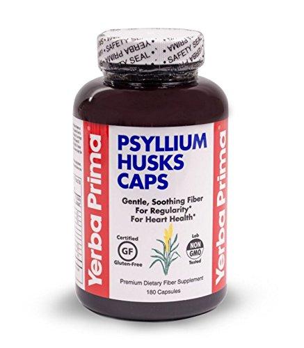 Yerba Prima Psyllium Husks , 625 mg, 180 Capsules(Packaging May Vary) (Organic 180 Capsules Psyllium)