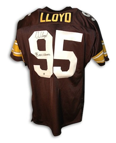 new styles 78cab cb815 Autographed Greg Lloyd Pittsburgh Steelers Black Throwback ...