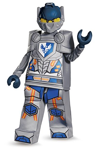 Disguise Clay Prestige Nexo Knights Lego Costume, Large/10-12 (Lego Halloween Costumes)