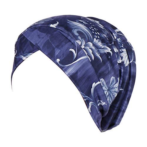 iLXHD Women Islamic Muslim Turban Cancer Hat Chemo Cap Hair Loss Head Scarf Turban Head Wrap Cover Hat -