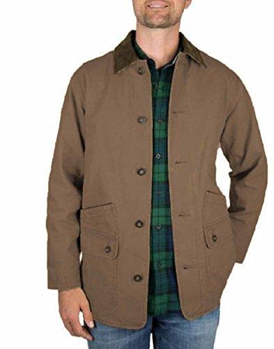 Orvis Mens Corduroy Collar Cotton Barn Jacket (Tobacco, M)