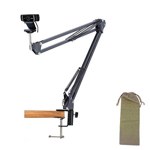 Desk Clamp Mount Suspension Boom Scissor Arm Tripod Stand Holder for Logitech Webcam C922 C930e C930 C920 C615 by AceTaken