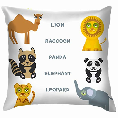 Kids Words Learning Game Worksheet Read Education Alphabetically Pillow Case Throw Pillow Cover Square Cushion Cover 12X12 Inch]()