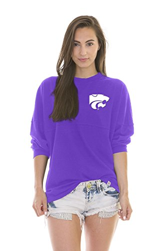 NCAA Kansas State Wildcats Women's Jade Long Sleeve Football Jersey, Purple, (Kansas State Football Jersey)