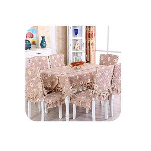 Luxury European Table Cloth Rectangular\Round Dining Table Covers Chair Cover Wedding Home Party Banquet Christmas Tablecloth,05,1PCS Chair Cover