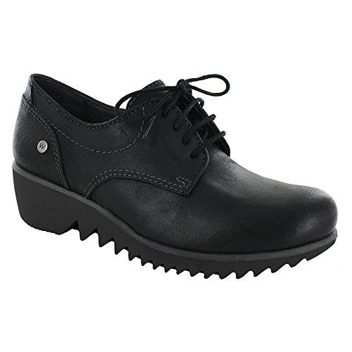 Zapatos Con Cordones Wolky Comfort Goble Black Molde