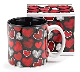 Love A Flutter Hearts Valentines Day 13oz Coffee Tea Mug- Kitchen Gift