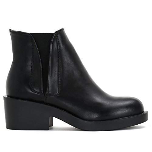 Tacco Cm Nero Alti Prendimi Stivaletti By amp;scarpe 5 Elastico Con Scarpe Doppio vv8HfT