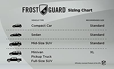 NFL FrostGuard- Most Teams Available: Winter Snow, Ice and Frost Windshield Cover
