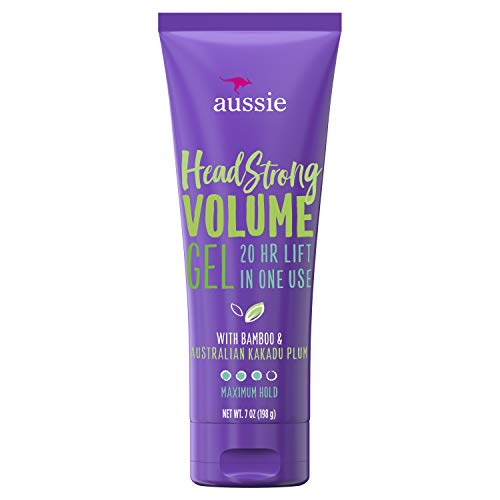 Volumizing Hair Gel - Aussie Headstrong Volume Gel with Bamboo & Kakadu Plum, 7.0 oz