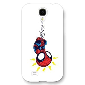 UniqueBox Customized Marvel Series Case for Samsung Galaxy S4, Marvel Comic Hero Spider Man Logo Samsung Galaxy S4 Case, Only Fit for Samsung Galaxy S4 (White Frosted Case)