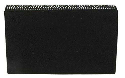 Black Clutch Rhinestones Bag Handbags Girly gIwPq8Y