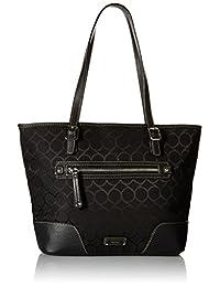 Nine West Women's 9 Jacquard Top Handle Tote Bag