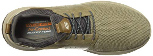Skechers Men's Classic Fit-Delson-Camden Sneaker,taupe,14 Wide US