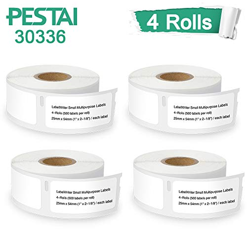 Labels Multi 30336 Purpose (PESTAI Compatible Small Multipurpose Labels Replacement for DYMO 30336 25mm x 54mm(1