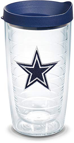 Tervis 1039078 NFL Dallas Cowboys Primary Logo Tumbler with Emblem and Navy Lid 16oz, -