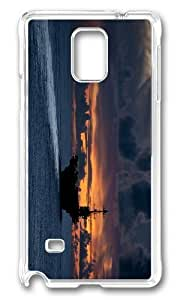 Adorable george washington Hard Case Protective Shell Cell Phone Samsung Galaxy Note3 - PC Transparent