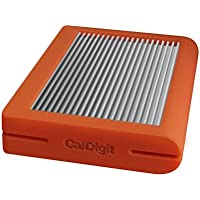 CalDigit Tuff USB-C 1TB SSD Portable Rugged Tough USB 3.1 Type-C, Macbook, 2016 Macbook Pro, Thunderbolt 3 Compatible (Orange SSD)