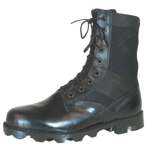Jungle Vulcanized Boot - Fox Outdoor Products Vietnam Jungle Boot, Black, Size 9