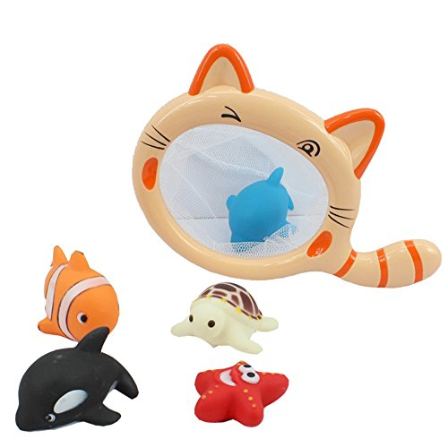 Toss Bath (Bath Tub Toys Water Bugs Developmental Bath Toy Net Splat Floating Ring Toss Game Gift)