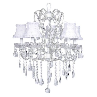 Jubilee Collection 76002-2056 5 Light Carousel Chandelier with Petal Flower Shade, White