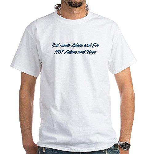 Adam Eve Shirts - CafePress God Made Adam & Eve. White T-Shirt - 100% Cotton T-Shirt, White