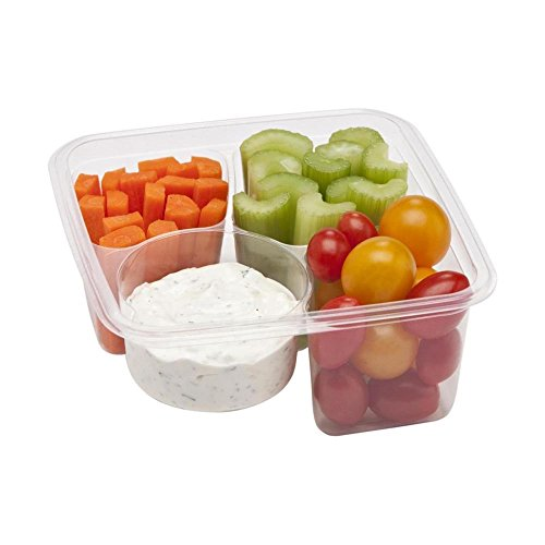 Fabri-Kal-9509504-3-Compartment-Compostable-Container-300-CS