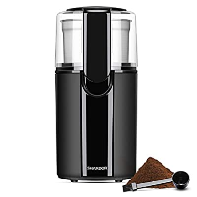 SHARDOR Coffee Bean Grinder Electric, Removable Bowl with Stainless Steel Blade, Black.