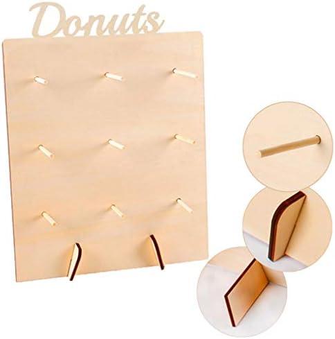 40x30x12cm FLAMEER Support Mur Daffichage Donut Mur Gamme Mariage Beignet Pr/ésentoir Donut