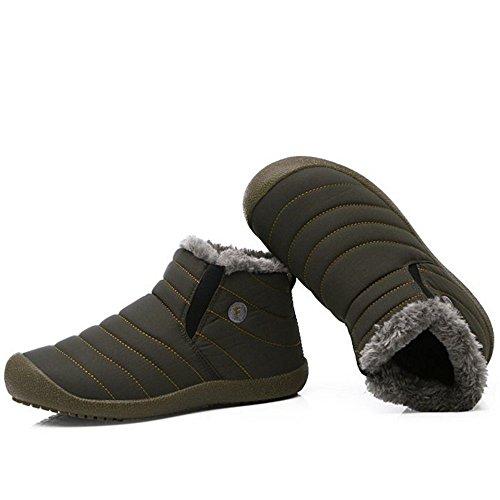 Scarpe RAZAMAZA On Donna Women Caldo Pull Grey Stivali Inverno I6zq6w