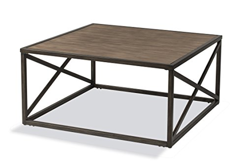 - Hillsdale Furniture Coffee Table in Dark and Light Brown Finish