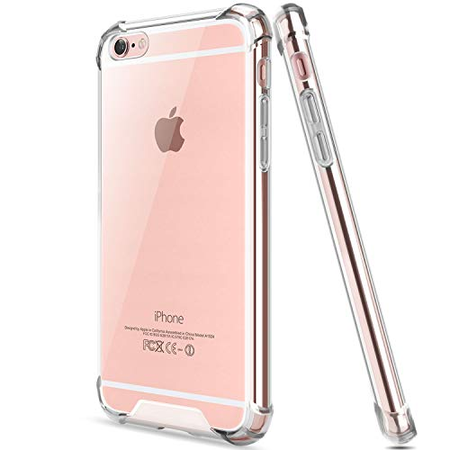 Salawat for iPhone 6 Plus Case, Clear iPhone 6s Plus Case Cute Anti Scratch Slim Phone Case Cover Reinforced TPU Bumper Shock Absorption Protective Case for iPhone 6/6s Plus 5.5inch (Crystal Clear)