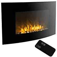 "XtremepowerUS Wall Mount Electrical Fireplace Insert Embedded With Realistic Flame (35"" Wall Mount)"
