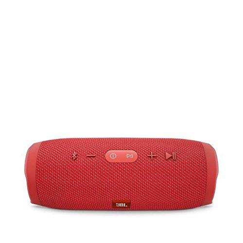 JBL Charge 3 Waterproof Bluetooth Speaker -Red (Certified Refurbished)