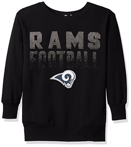 Fleece Nfl Football - GIII For Her NFL Los Angeles Rams Women's Showtime Pullover Sweater, X-Large, Black