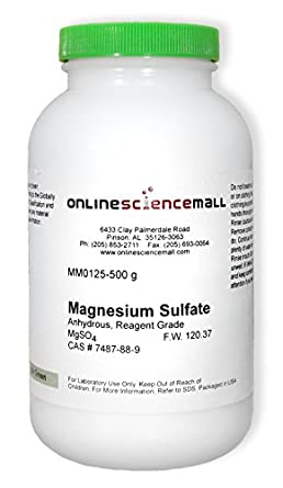 Magnesium Sulfate, Anhydrous, 500g - Reagent Grade Chemical Reagent