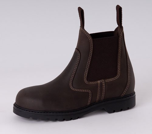 0a22893be3c Rhinegold Tec Steel Toe Cap Horse Riding Safety Boots Brown UK5.5 ...