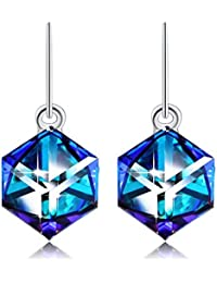 ❤Gift Packaging❤ Crystals from Swarovski, Cube Earrings...