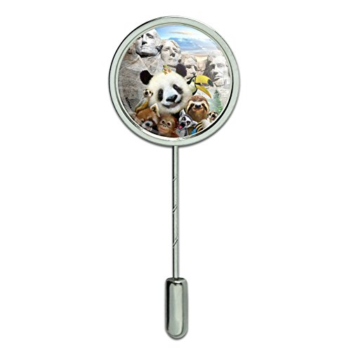 Mt Rushmore Pin - GRAPHICS & MORE Mount Mt. Rushmore National Memorial South Dakota Panda Sloth Stick Pin Stickpin Hat Brooch