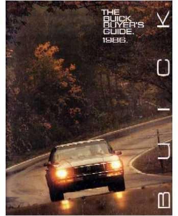 1986 BUICK Sales Brochure Literature Book Piece
