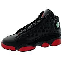 Nike Jordan Kids Air Jordan 13 Retro BG Black Gym Red Basketball Shoe 4.5 Kids US