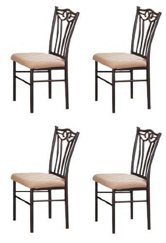 metal dining room chair | Amazon.com - Poundex PDEX-F1010 4 Black Metal Dining ...