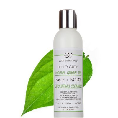 Matcha Green Tea Facial Daily Exfoliating Cleanser for Women and Men. Super Hydrating Face Wash with Aloe Vera, Hyaluronic Acid,and Niacinamide(B3). Great for Sensitive Skin