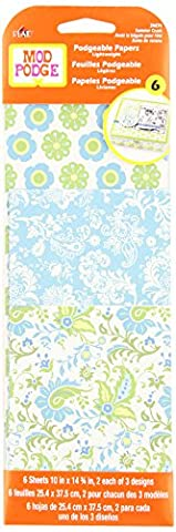 Mod Podge Scrapbooking Papers, 24874 Summer Crush (6 Sheets) (Mod Podge Accessories)
