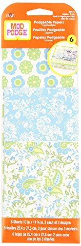 Mod Podge Scrapbooking Papers, 24874 Summer Crush (6 Sheets)